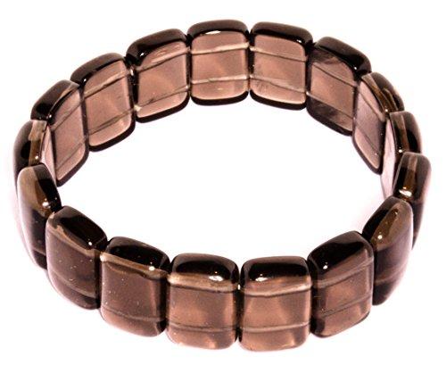 Cuarzo Ahumado (pulsera) adyacente brazalete Joyería de Cuarzo Ahumado número de modelo 1504