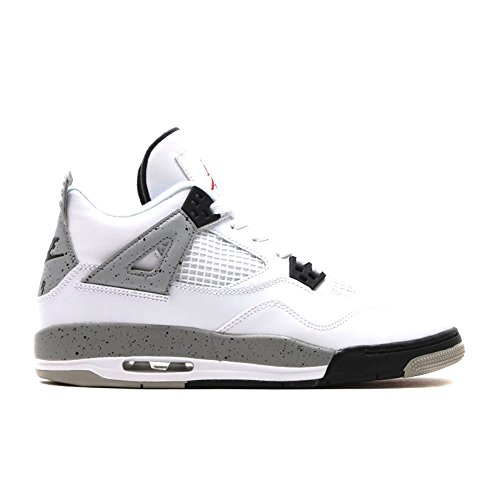 Foto de Nike Air Jordan 4 Retro OG BG, Zapatillas de Deporte para Niños, Blanco/Rojo / Negro (White/Fire Red-Black-Tech Grey), 38 1/2 EU