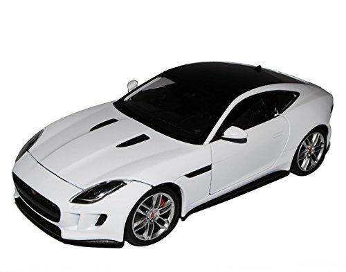 jaguar-f-type-coupe-weiss-ab-2013-1-24-welly-modell-auto-mit-individiuellem-wunschkennzeichen