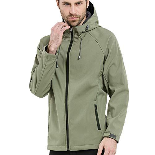 ODJOY-FAN-Uomo Guscio Morbido Giacche Cappuccio Cappotto Classics Hooded  Oversized Jacket 6f3a3e88d133