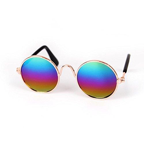 Gafas de sol de perro gato mascota, Gafas de sol de moda, Gafas de sol UV Protección ocular para mascotas perros juguetes mascotas, Ropa Para mascotas pequeñas perros accesorios (Multicolor)
