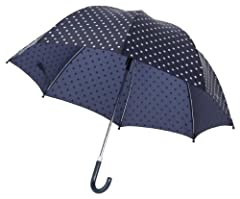 Idea Regalo - Playshoes - Dots Kid'S Umbrella, Ombrello unisex, blu(blue (navy)), taglia produttore: one size