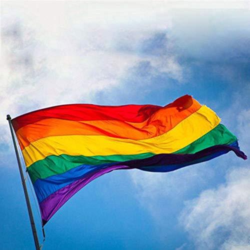 Chirsemey LGBT-Flagge Regenbogen-Banner Homosexuell Lesben Gay Pride, Frieden, Stolz Dekoration für LGBT Pride Parade Festival Party Dekorationen 150 x 90 cm
