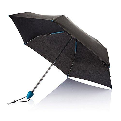 XD Parapluie de Poche Droplet Pliant, 88 cm, 19,5 Pouces, Bleu