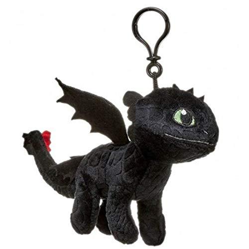 Whitehouse Drachen OHNEZAHN Toothless Dark Fury Karabinerhaken PLUSCH Peluche 19cm Drachentrainer Dragon Trainer Drachenzähmen leicht gemacht