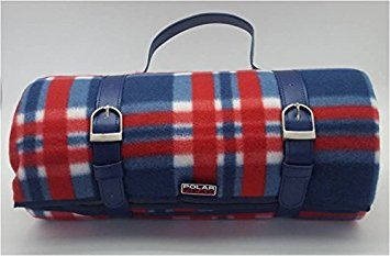 Polar Gear Premium Tapis de Pique-Nique à Carreaux Bleu Marine