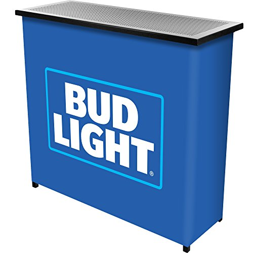 bud-light-metal-2-shelf-portable-bar-table-w-carrying-case