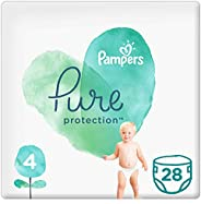 Pampers Pure Protection, Size 4, 9-14 kg, 28 Diapers