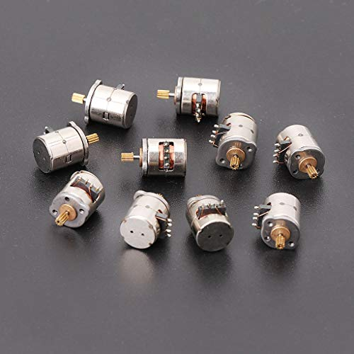 BIlinli 10Pcs 3V 2 Phase 4 Wire Dia. 8mm Stepper Motor Micro para cámara de Productos Digitales