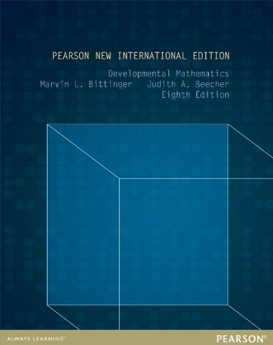 Developmental Mathematics: Pearson New International Edition