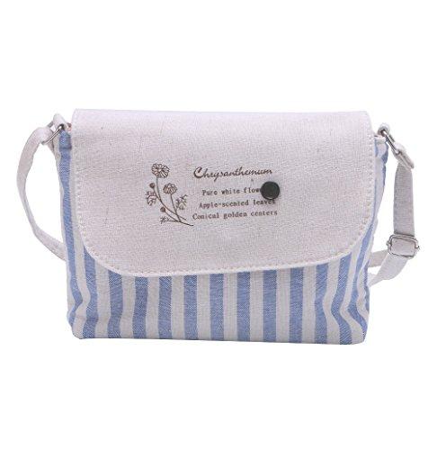 Dairyshop Borsa a tracolla delle donne da donna Borsa del messaggero Floral Pattern Borsa preferita Crossbody (Light Khaki) Cielo blu