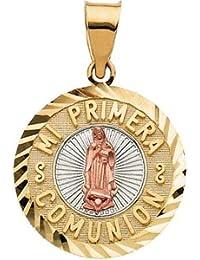 14ct Mi Primera Comunión 3-CLR 1st tetanos 19,75 mm - JewelryWeb