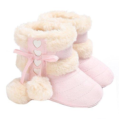 c133cdd346d0fb Butterme Stivali da bambino, inverno bambino caldo morbido sole  antisdrucciolevole Mid Calf Crib Scarpe con