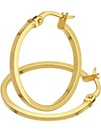 Citerna - Pendientes para Mujer de Oro Amarillo 9K