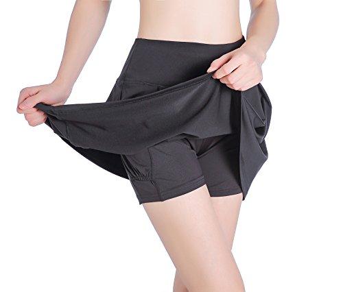 EAST HONG Women's Pocket Sports Skorts Golf Workout Tennis Skorts with Inner Shorts