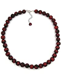 Jewellery Necklace baroque pearl red length 50cm