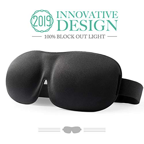 Schlafmaske für Frauen & Männer, PaiTree Augenmaske zum Schlafen, 3D konturierte, bequeme ultraweiche Schlaf-Augenmaske, hervorragend geeignet für Reisen/Nickerchen/Nächtlicher Schlaf