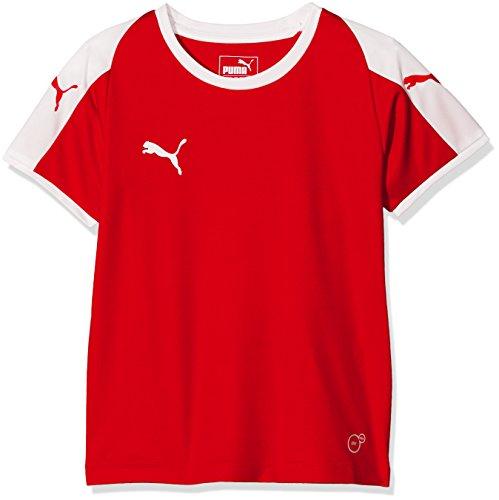 PUMA Kinder Liga Jersey, Red White, 128 (- Sport-kleidung Für Jungen)