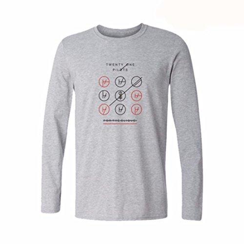 Men's Cotton Street Style Rock and Roll Sweatshirt Grey