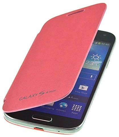PhoneStar Flip Cover Etui Housse pour Samsung Galaxy S4 Mini i9190 / i9195 en rose