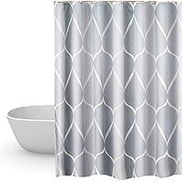 HuaForCity Duschvorhang 220x200cm Textil,Anti-Schimmel Badvorhang 200cm höhe für Badezimmer,Waschbarer Shower Curtain mit 12 Ringe