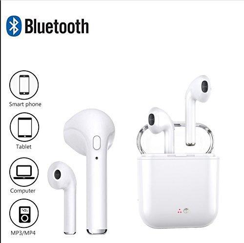 3732aa51804 Características de Auriculares Bluetooth Mini Auriculares inalámbricos  Deportivos/Estéreo de Reducción de Ruido Auriculares a Prueba de Sudor y  Funda de ...