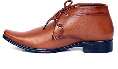 SRV Men's Brown Synthetic Leather Formal Shoes -8