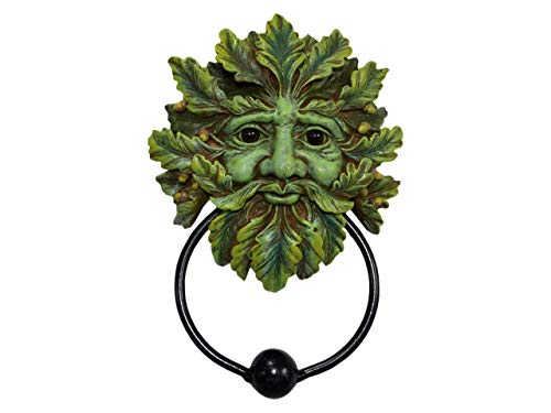 Hunky Dory Gifts Greenman of The Forest Green Man Puerta Knocker Decoración De Pared Tree Spirit Wiccan