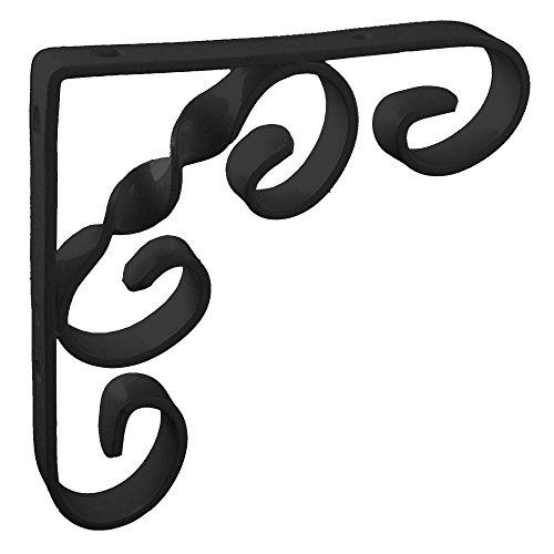 150mm-6-x-6-no244-ornamental-scroll-shelf-brackets-1-each-black-finish