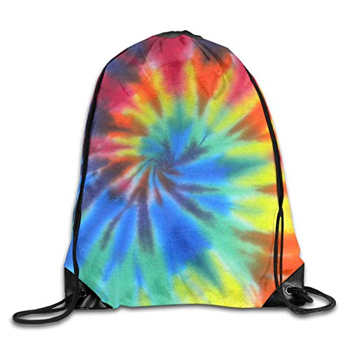 ZHIZIQIU Drawstring Bags Bulk Dark Blue Pink Red Green Tie-Dye Drawstring Backpack Bag Shoulder Bags Bag for Adult Size: 4133cm -