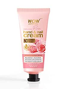 WOW Skin Science Himalayan Rose Hand & Nail Cream - Softening & Rejuvenating - Lightweight & Non-Greasy - Quick Absorb - For All Skin Types - No Parabens, Silicones, Mineral Oil & Color, 50 ml