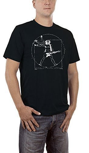 Touchlines Da Vinci Rock Guitar, Camiseta para Hombre,...