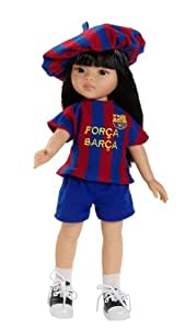 Paola Reina - 04704 - Poupée - Liu - Las Amigas Supportrices Du Fc Barcelona - Produit Officiel - 32 Cm
