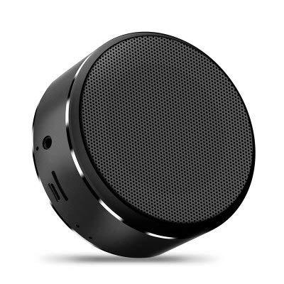 Linshenyoulu Ultraschall-Bluetooth-Lautsprecher Tragbare Karte Mini-Subwoofer Wireless Audio-Geschenk,Black