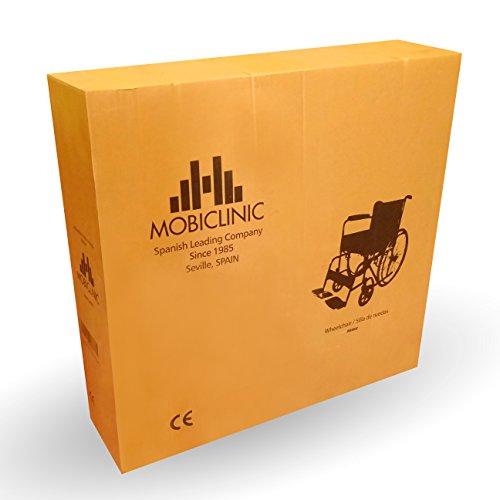 41rP1SX3GYL - Mobiclinic Silla de Ruedas Plegable | autopropulsable | Ancho Asiento 46 cm | Negro | Alcázar | Mobiclinic