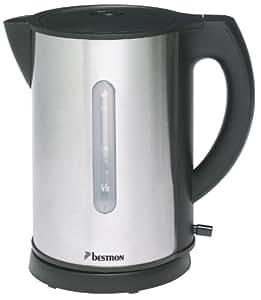 Bestron AWK178 Coffee & Tea Bouilloire sans Fil 1,7 L 2200 W Noir/Inox