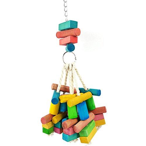 InvocBL Vogel-Kauspielzeug für Sittiche, Papageien, Nymphensittiche, Aras, Käfig, zum Aufhängen