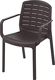 Cosmoplast Cedargrain Resin Outdoor Armchair (Dark Brown)