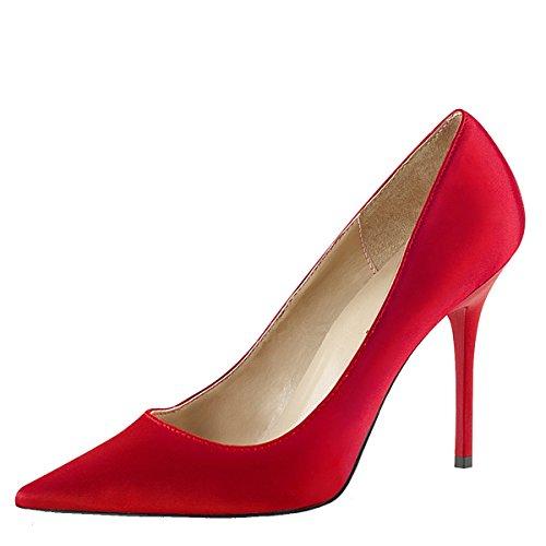 rot Damen Stiletto Stiletto Pumps Pumps Rot qvHf1XX