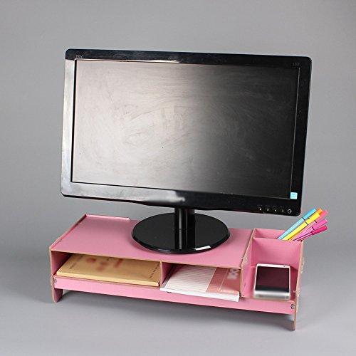 Computer-Monitor Erhöhte Regal-Halterung, Desktop-Tastatur Lagerung Halterung Rack, Dichte Board Größe 48.5 * 20 * 12.7cm A+ ( Farbe :...