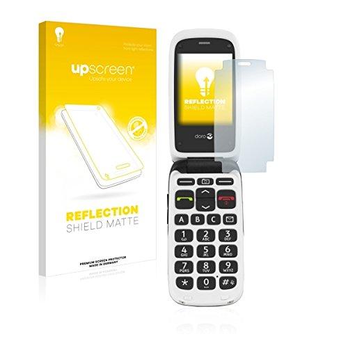 upscreen Reflection Shield Matte Bildschirmschutz Schutzfolie für Doro PhoneEasy 612 (matt - entspiegelt, hoher Kratzschutz)