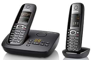 Gigaset  C595 Duo Téléphone sans fil DECT avec répondeur Noir