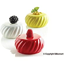 Silikomart Professional - Moldes para galletas bretonas (2 moldes, capacidad 6 galletas) Molde
