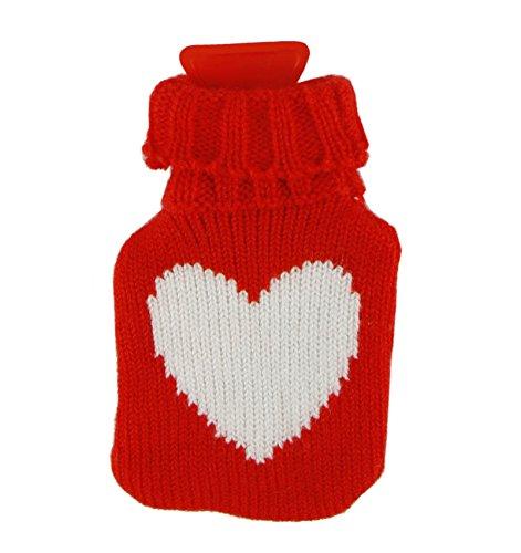 Taschenwärmer Handwärmer Herz Strickbezug ❤ romantisches Geschenk für Verliebte zum Valentinstag Mini - Wärmflasche - Nikolaus - Adventskalender