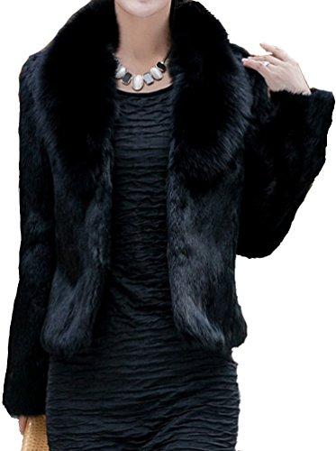 helan-womens-short-slim-faux-fox-collar-and-faux-rabbit-fur-coat-black-uk-16