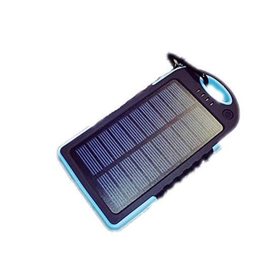 Pnss caricabatterie solare luce da campeggio da 12000 mah doppia interfaccia usb adatto per campeggio all'aperto uso del rifugio di emergenza,blue