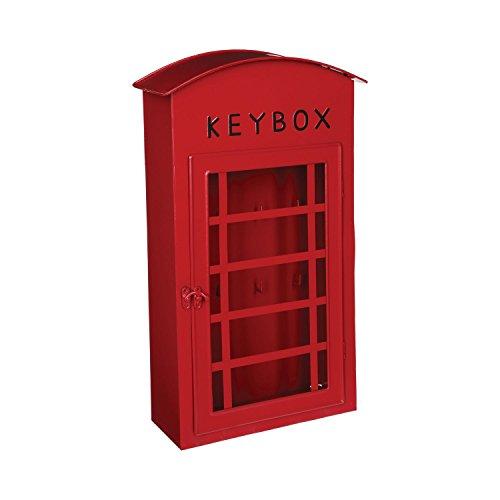 Boite à clefs - forme cabine téléphonique LONDON - Coloris ROUGE