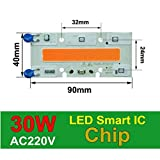 30W 90x40mm, 380-840nm : COB LED Chip Phyto Lamp Full Spectrum 20W 30W 50W LED Diode Grow Lights fitolampy for Seedlings Indoor DIY Hydroponics 110V 220V