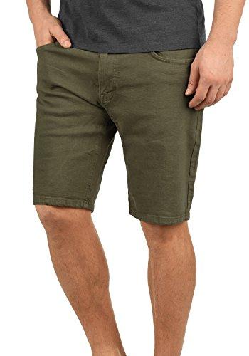 Golf Shorts Olive (Redefinded Rebel Morton Herren Jeans Shorts Kurze Denim Hose Aus Stretch-Material Regular Fit, Größe:XL, Farbe:Dark Olive)