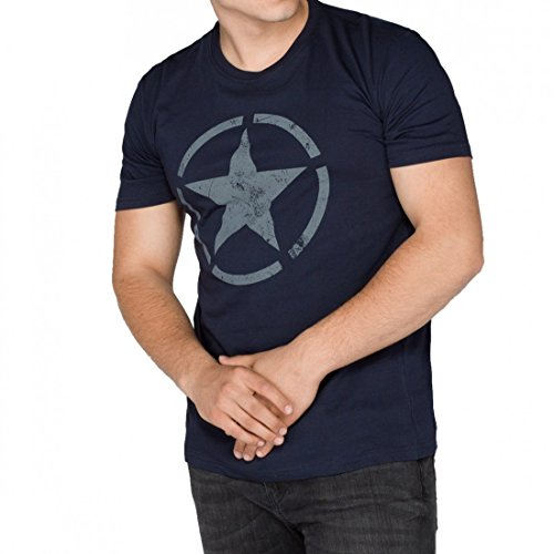 ALPHA Industries Herren - STAR T 121513 - rep. blue Rep. Blue